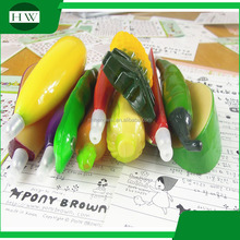 fruit and vegetable shaped plastic ball point pen with magnet red pepper eggplant pineapple Carrot watermelon peanut ball pen