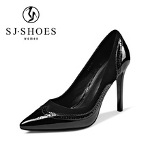D232 fashion shoes women evening genuine leather ladies office wear