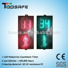 300mm Dynamic Pedestrian Traffic Light with countdown timer