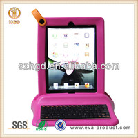 Shockproof rugged portable computer keyboard case for iPad