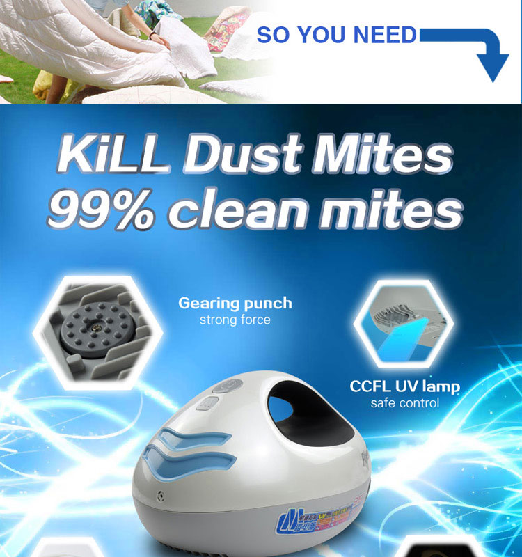 Medical Device clean the dust mite and baterical product for 2016 made in china alibaba china UV bed vacuum cleaner
