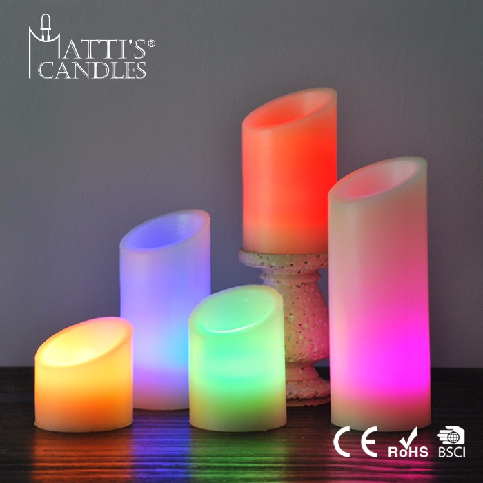 Matti's Elegant Classical Led 3X8 Pillar Candle/Unity Candle/Electric Candle Light