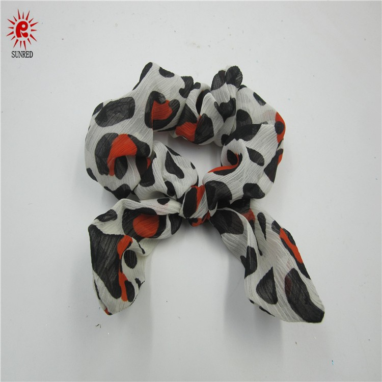 Fabric bowknot shaped tie front style head wraps