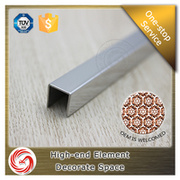 U-shaped edge trim edge protection stainless steel decorative tile trim