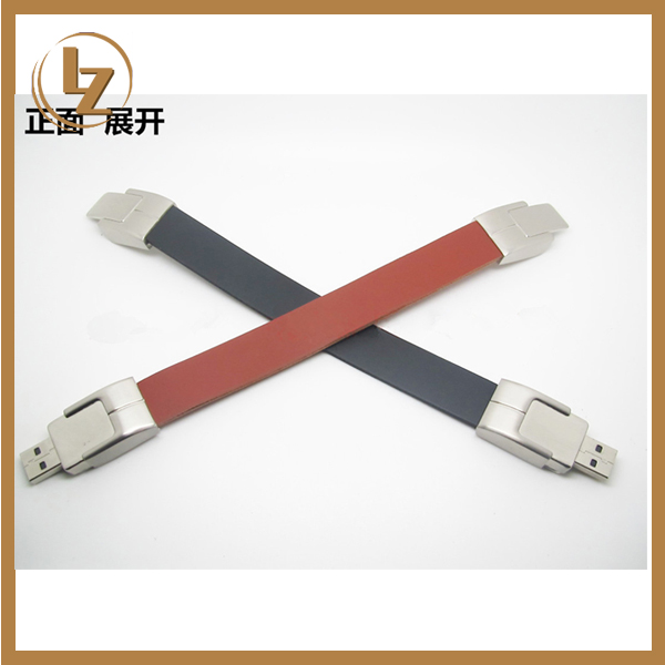 Alibaba Golden Supplier USB Disk Leather Bracelet Design USB Flash Drive