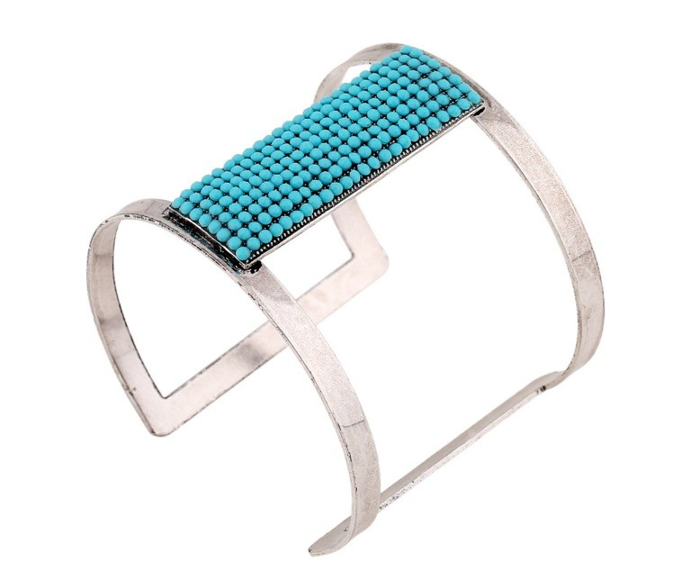 Fashional bracele with stone turquoise Best sale ultimate model Azurite best seller hollow out Bohemia style
