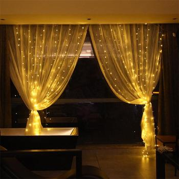 Top Sale Party Home Decoration Warm White Led Fairy Curtain Lights