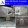 New 40' refrigerated container with daikin, carrier, thermo king cooler
