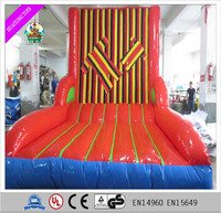 2016 popular and funny inflatable sticky wall game for kids and adults