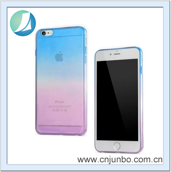 Wholesale new Color gradient Electroplating TPU case Mobile Phone Cover For Iphone 6