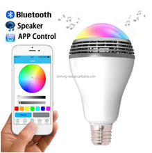 Full Colors Lamp RGBW Light 4 in one 7W Bluetooth Smart LED Bulb with Speaker Music