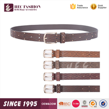 HEC Alibaba China Popular Designed Fashion PU Leather Belt For Girls