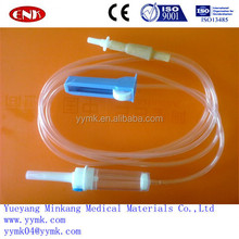 Cheap disposable medical IV giving set