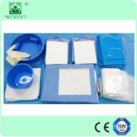 2016 HOT SALE Disposable Sterile Surgical Drape Pack, Surgical Drape Set for Femoral Angiography and Intervention