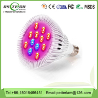 Dawson wholesale full spectrum high lumen 12w led grow light , plants veg and bloom led grow light for greenhouse