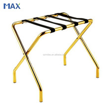 Titanium Gold Coated Folding Luggage Racks for Hotel