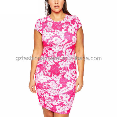 plus size flowers dress cocktail party sexy girls with no clothes