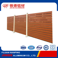 Certificated wood grain garden aluminium fencing