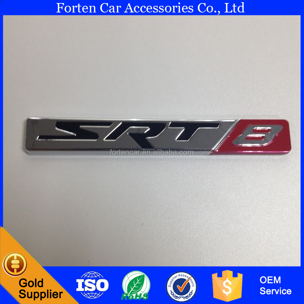 Custom SRT 8 Car Rear Decal Nameplate Lettering Sticker Badge Emblem