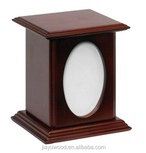 Top selling funeral supplies wholesale cremation pet urns with photo frame for ashes