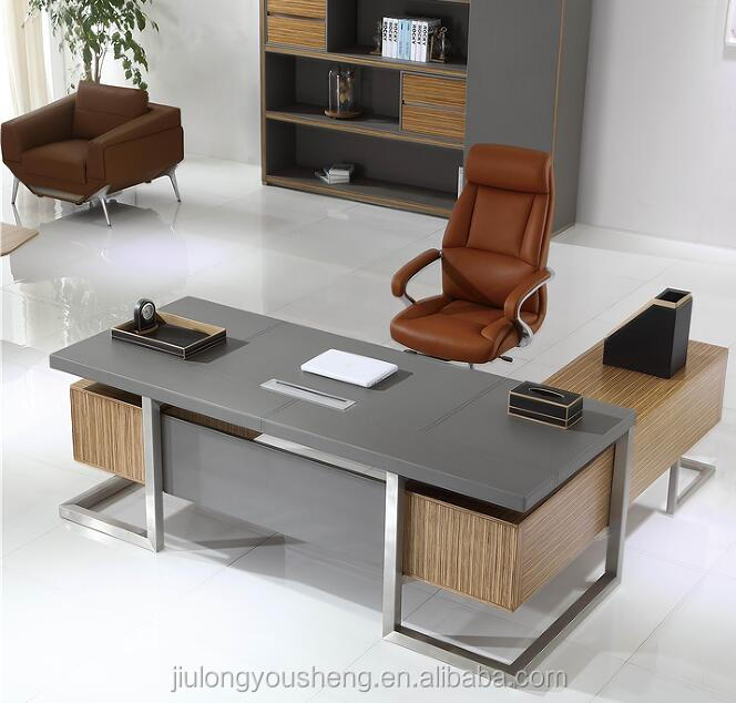 High Class Leather Upholstery Office Table W07 High End Veneer Office  Furniture