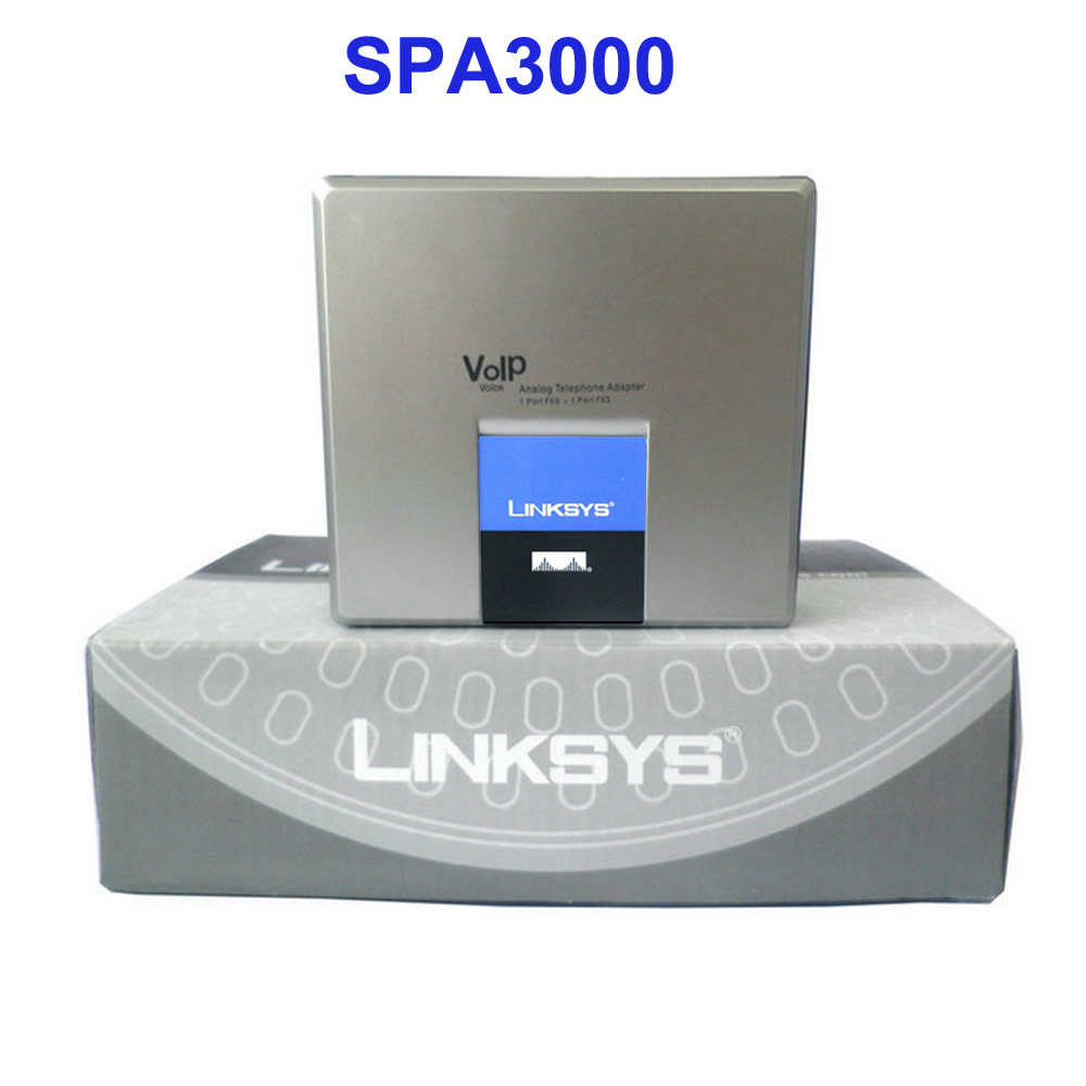 Voip ata Linksys SPA2102 Router 2RJ45(1LAN+ 1 WAN)+2FXS with Updated price
