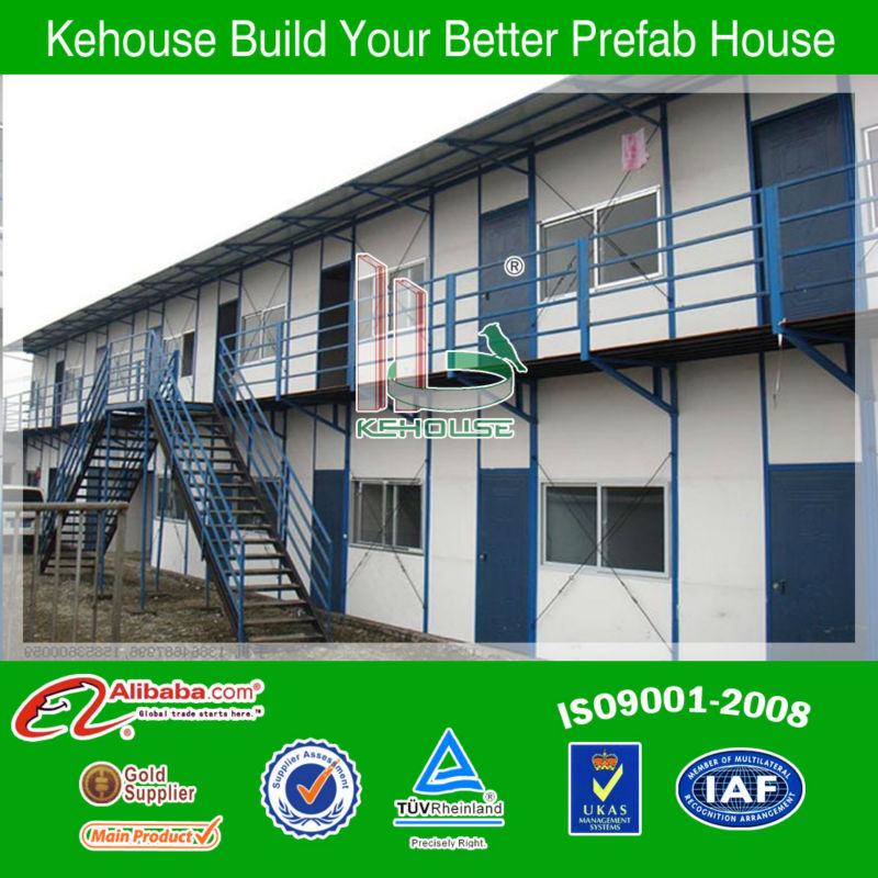 Chinese 1 set 2 floors prefabricated houses with low cost