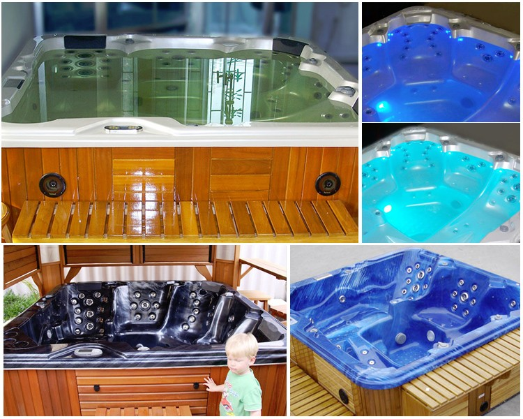 Wholesale garden freestanding acrylic portable indoor outdoor whirlpool massage 5 person mini balboa hot tub