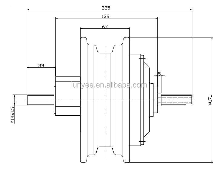 1000w electric wheel hub motor