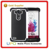 [UPO] Cheapest Price 3 in 1 Rugged Rubber Cover Football Line Cell Phone Cases for LG G3
