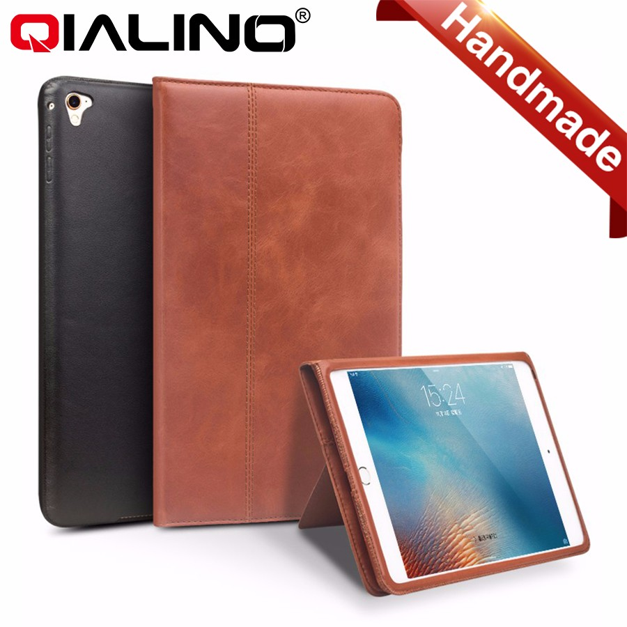 2016 QIALINO Brand Genuine Leather Book Case For iPad Air 2