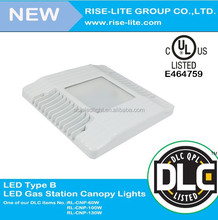 Rise Lite new desigh 130w led flat canopy light for high bay lighting DLC UL led low bay canopy fixture