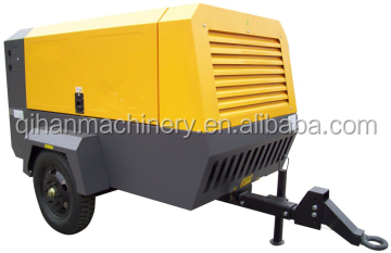 Excellent diesel engine portable air compressor QACY-11/10 for mining project