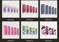 2014 New Arrivial Acrylic pre Designs Mix Fake False French Airbrush Tip Uv Pre Design Nail Art Tips 70pcs/Set