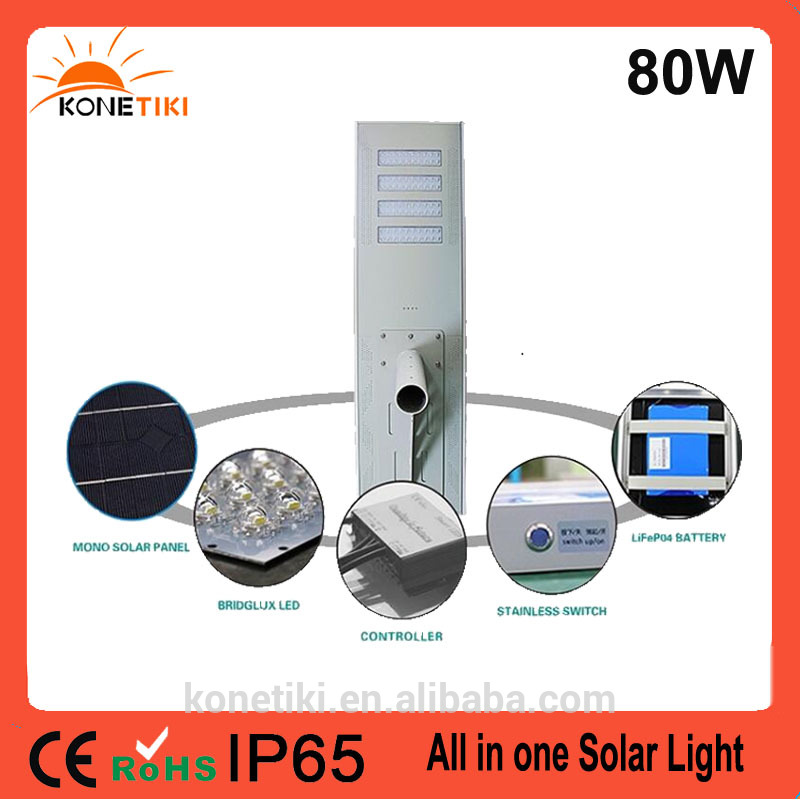 Aluminium Alloy Lampshade Material hot sell led solar street light all in one integrated piers With Promotional Price