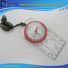 Outdoor Pocket Camping Map Measure Compass With Magnifier