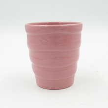 Color glazed ceramic flower pot for succulent plant with raised pattern