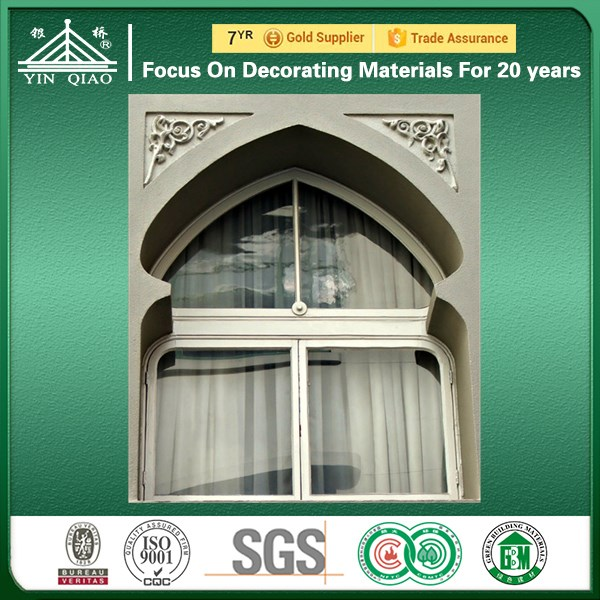 Classical Mid-east Building Design Customizable Cement GRC Window Frame