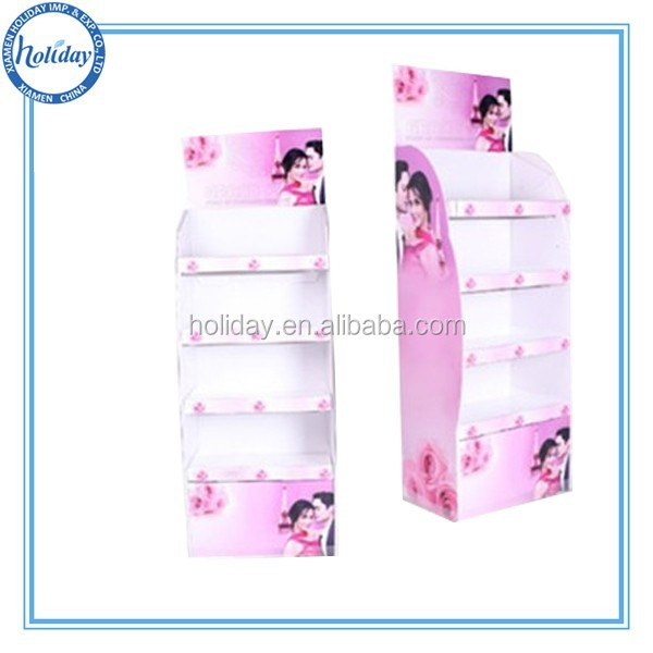 Good looking cometic paper stand,skin products corrugated paper stand display