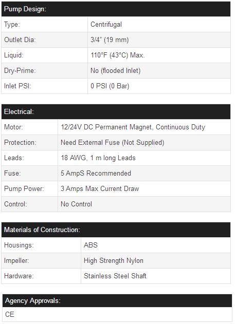 Newmao auto 24v dc marine bilge pump automatic bilge pump 750gph