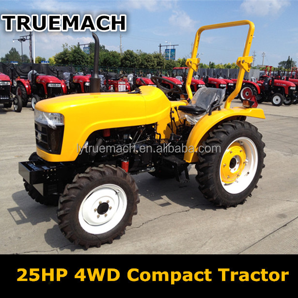 25HP 4WD Compact Mini Four Wheel Farm Tractor With EPA Certificte