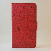 cute faerie case leather flip wallet case for samsung galaxy S4 leather pouch