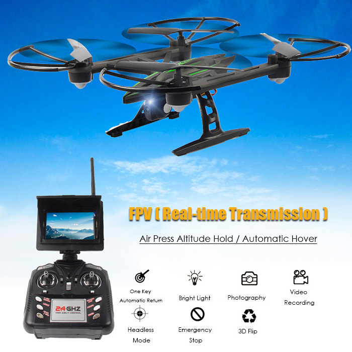 FPV Drone JXD 510G 5.8G RC Quadcopters FPV 2.0MP Camera 2.4GHz 4CH 6 Axis Gyro Barometer Set Height elfie drone racing drone