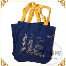Recycled Competitive Price Custom tote painting bag with gold stamping LOGO