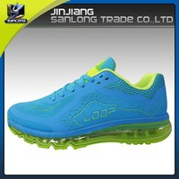 power sport spike knitting fabric upper running shoes for men
