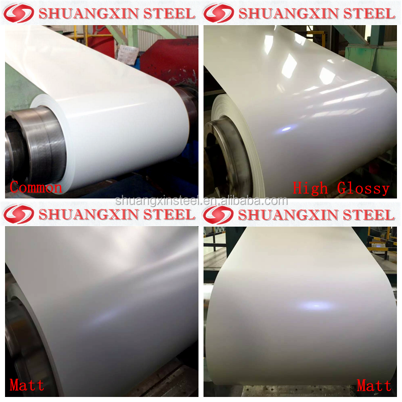 0.5*1200 white color coated <strong>steel</strong> coil export to peru