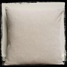 Plain beige linen square cushion cover pillow cover 45x45
