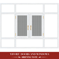 white moden aluminium casemen windows with mosquito net