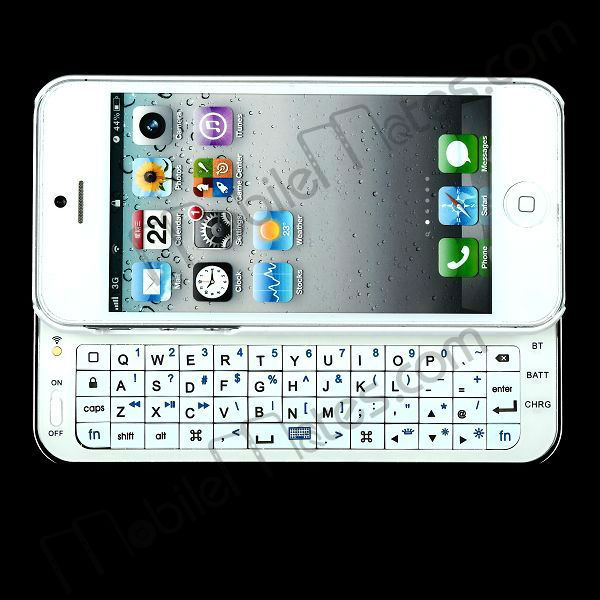 Ultra-thin Slide-out Wireless Bluetooth Keyboard for iPhone 5 with Back Light
