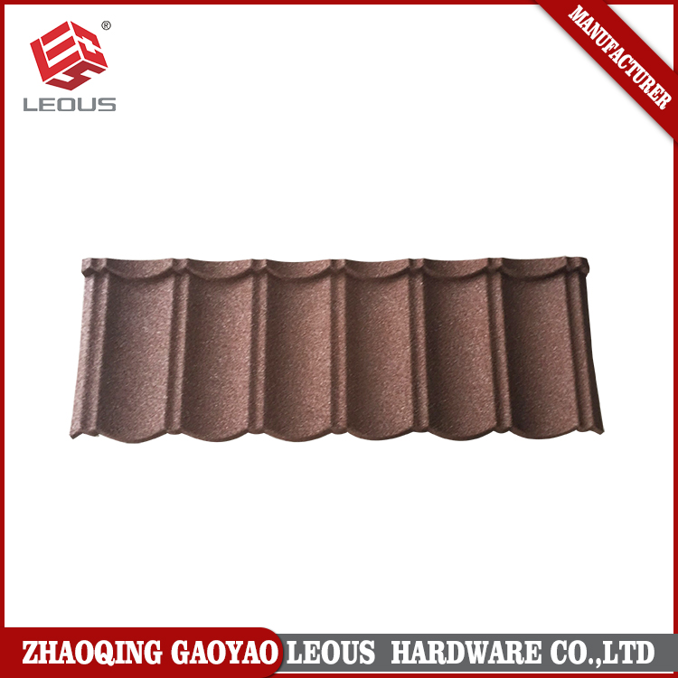 Building materials Waviness colour stone coated metal roofing tile